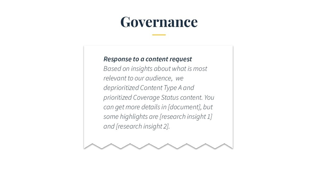 Governance Response to a content request Based ...