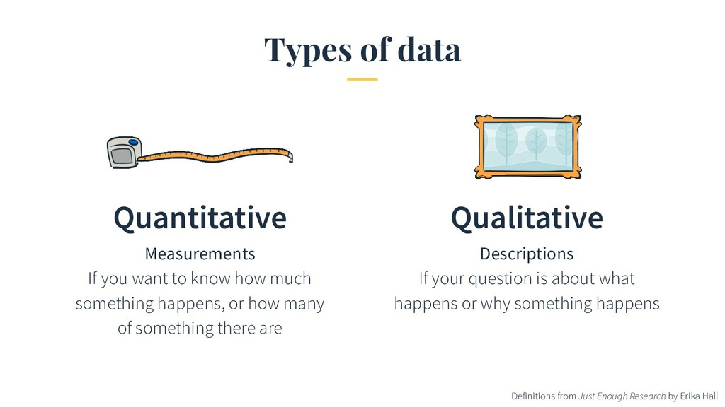Types of data Quantitative Measurements If you ...
