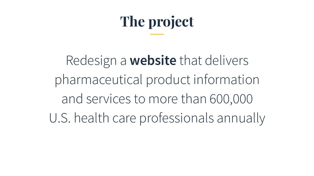 The project Redesign a website that delivers ph...