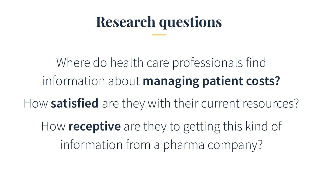 Research questions Where do health care profess...