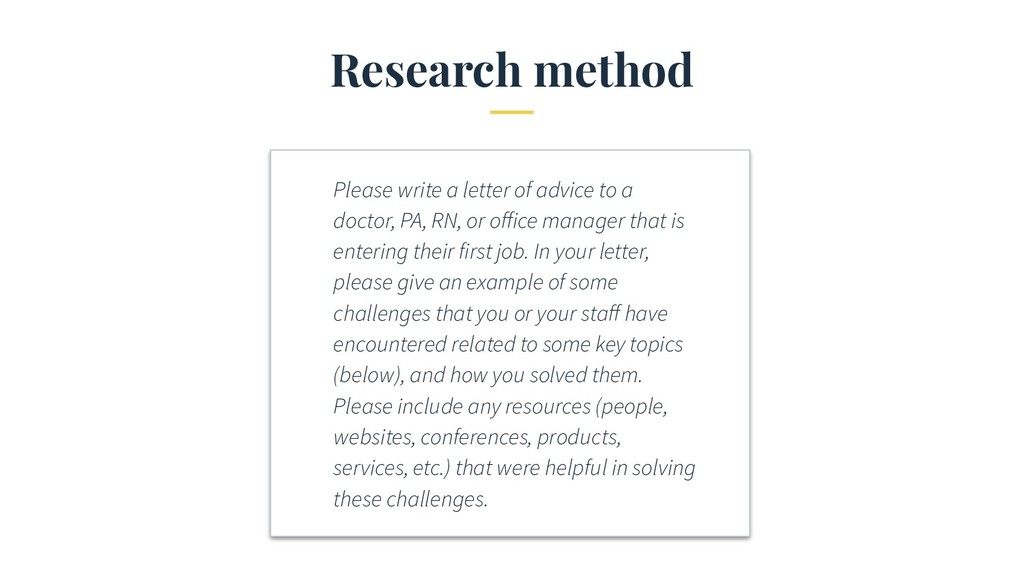 Research method Please write a letter of advice...