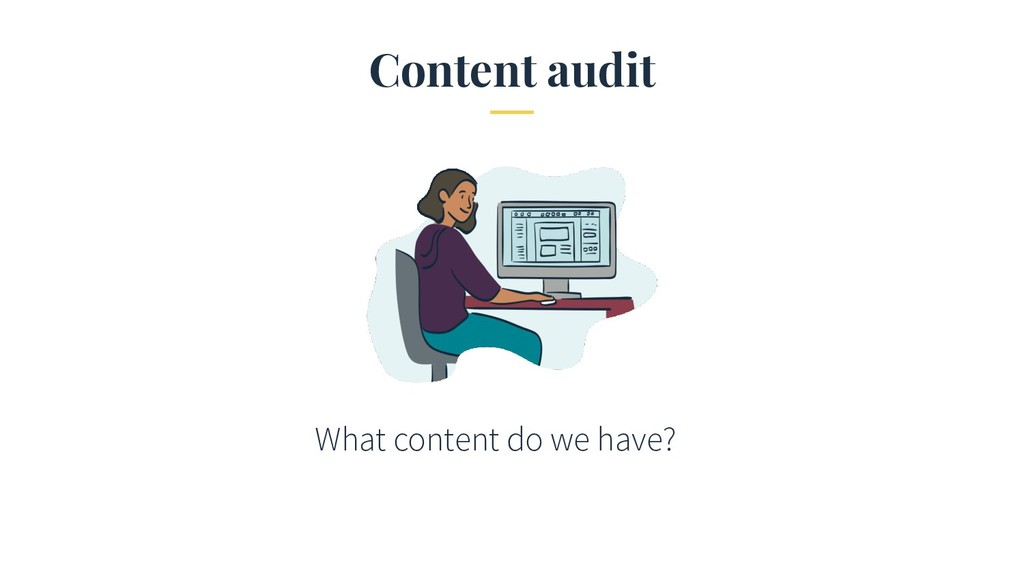 Content audit What content do we have?