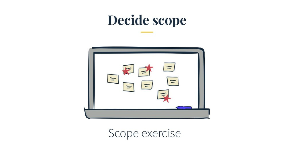 Decide scope Scope exercise