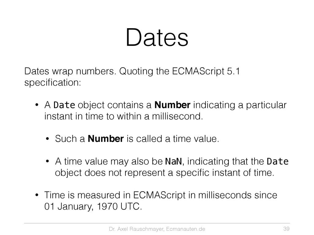 Dr. Axel Rauschmayer, Ecmanauten.de Dates Dates...