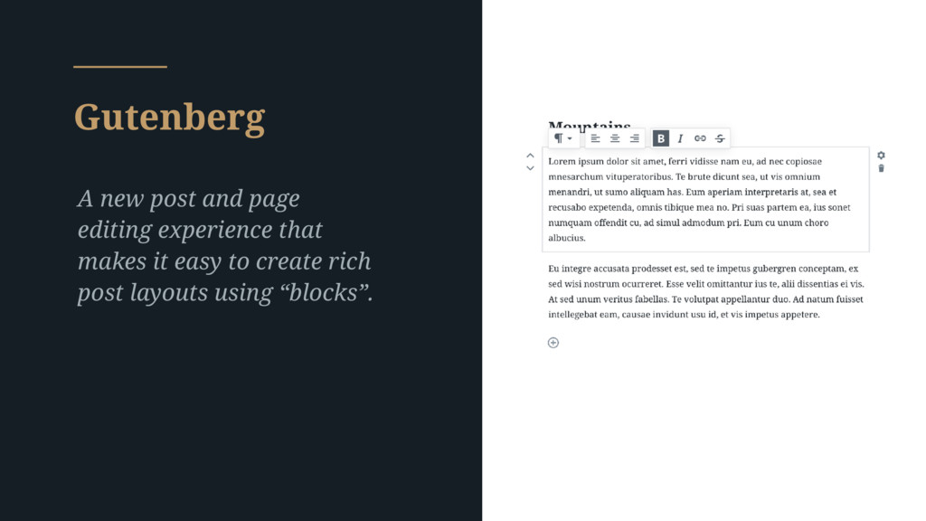Gutenberg A new post and page editing experienc...