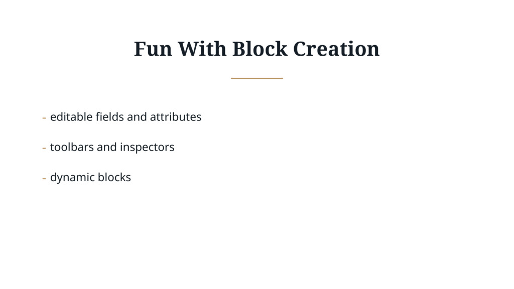 Fun With Block Creation - editable fields and a...