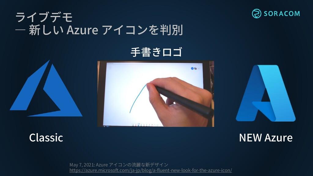 ライブデモ ― 新しい Azure アイコンを判別 May 7, 2021: Azure アイ...