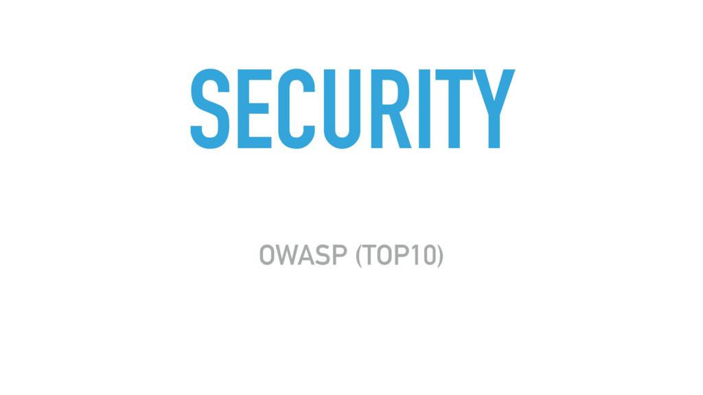 SECURITY OWASP (TOP10)
