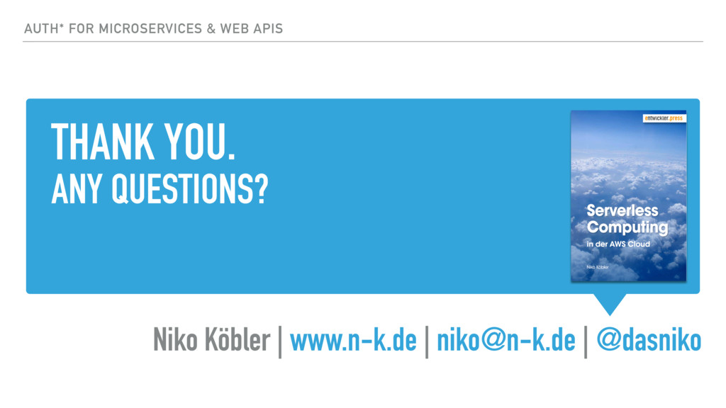 THANK YOU. ANY QUESTIONS? Niko Köbler | www.n-k...
