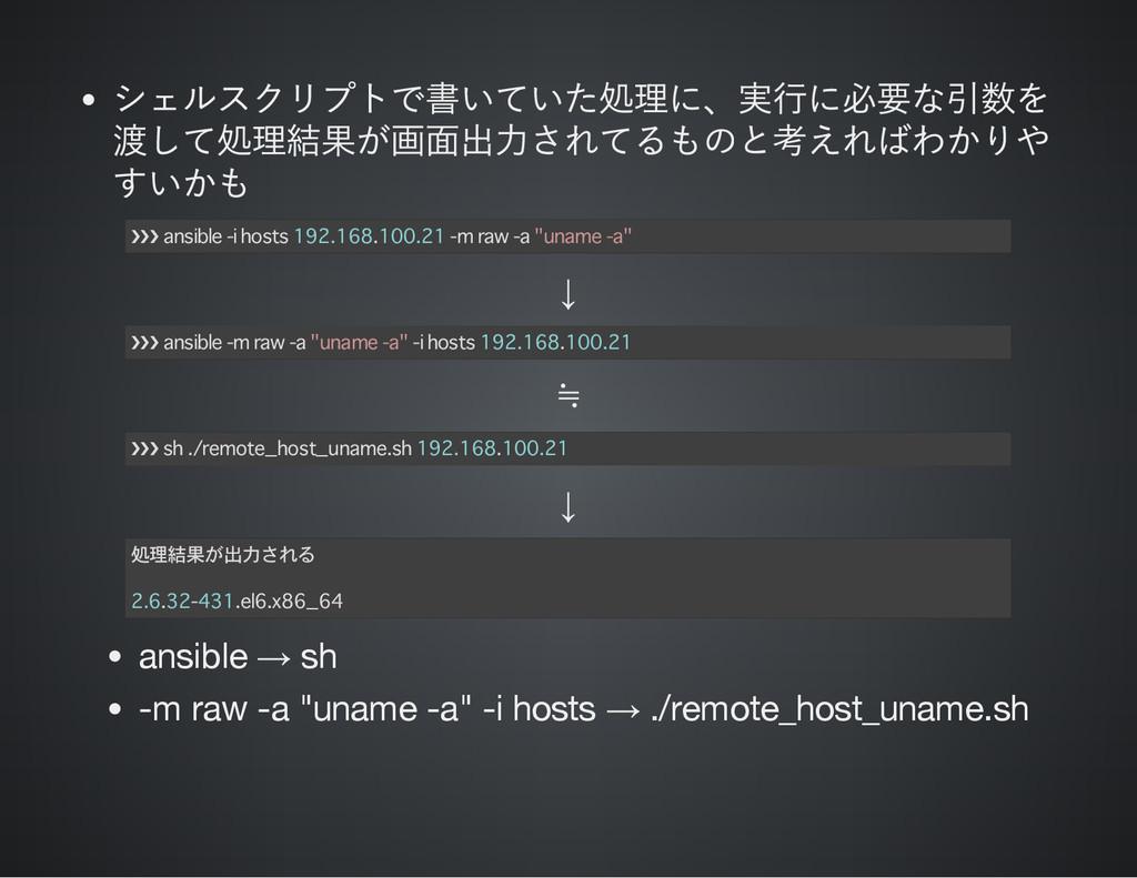 シェルスクリプトで書いていた処理に、 実行に必要な引数を 渡して処理結果が画面出力されてるもの...