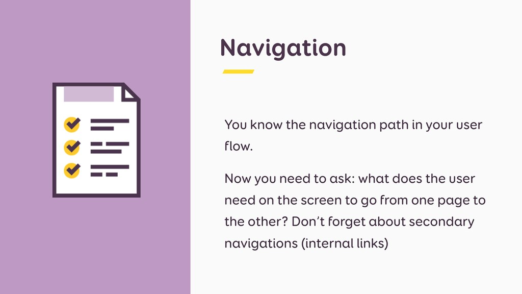 Navigation You know the navigation path in your...