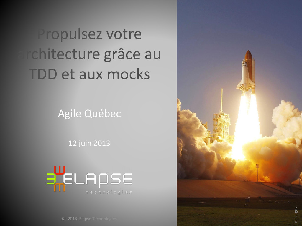 © 2012 Elapse Technologies © 2013 Elapse Techno...