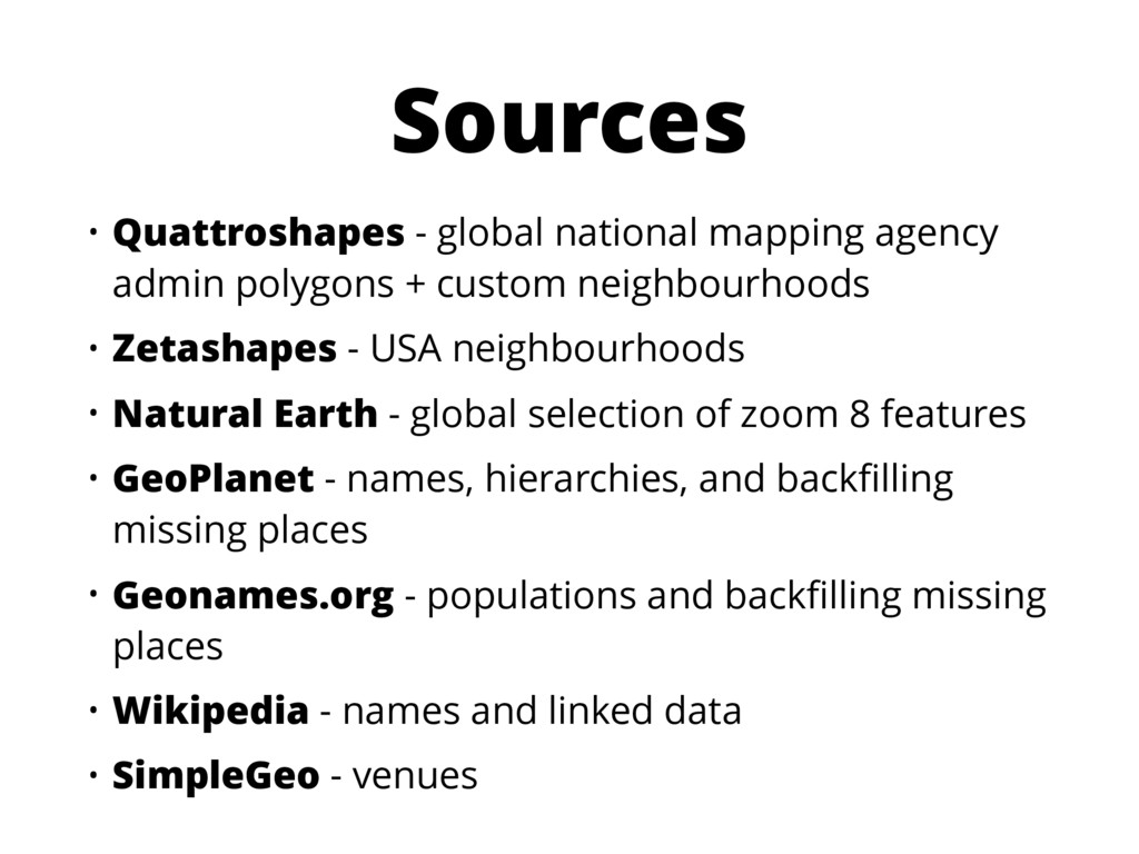 Sources • Quattroshapes - global national mappi...