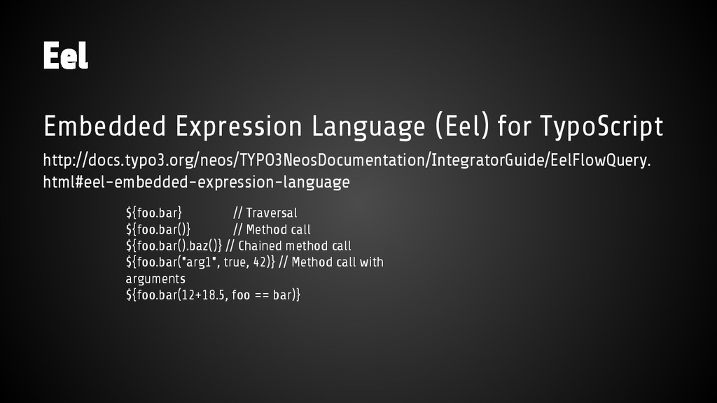 Embedded Expression Language (Eel) for TypoScri...