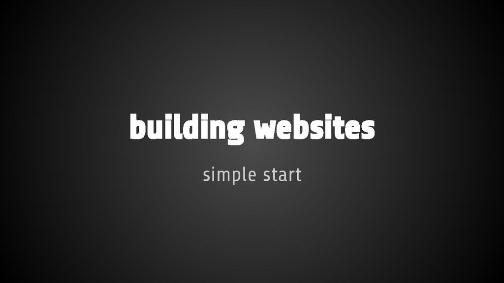 building websites simple start