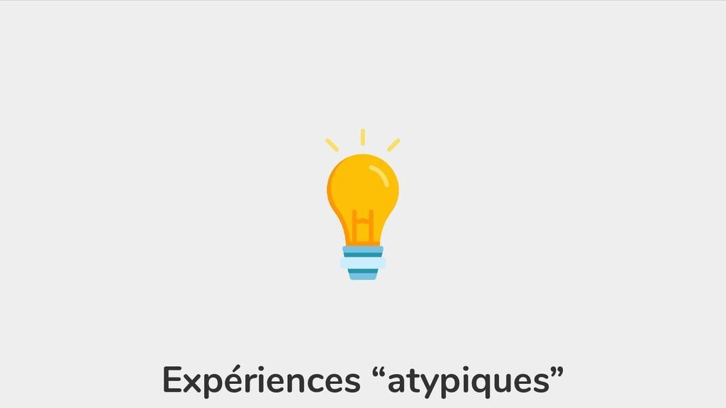 """Expériences """"atypiques"""""""