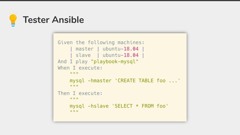 Tester Ansible