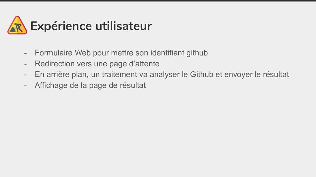 Expérience utilisateur - Formulaire Web pour me...