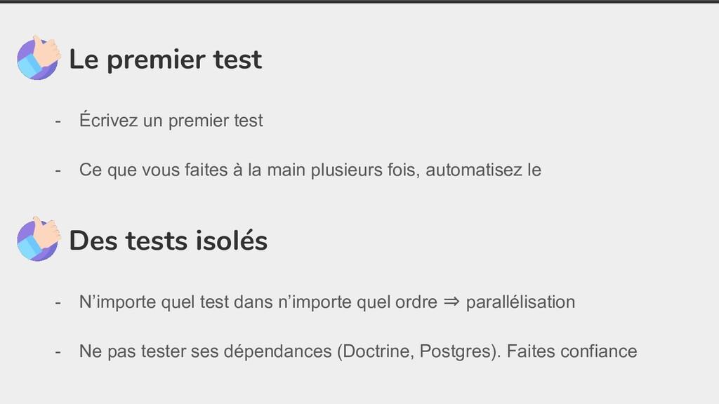 Le premier test - Écrivez un premier test - Ce ...