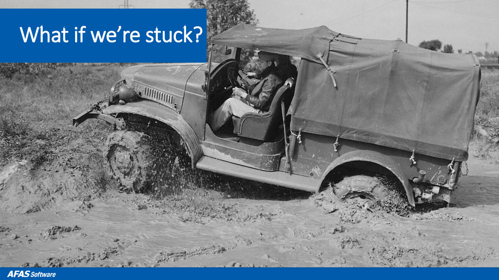 What if we're stuck?