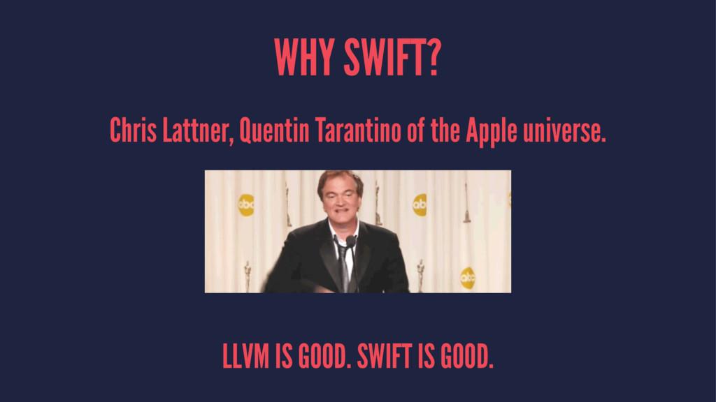 WHY SWIFT? Chris Lattner, Quentin Tarantino of ...