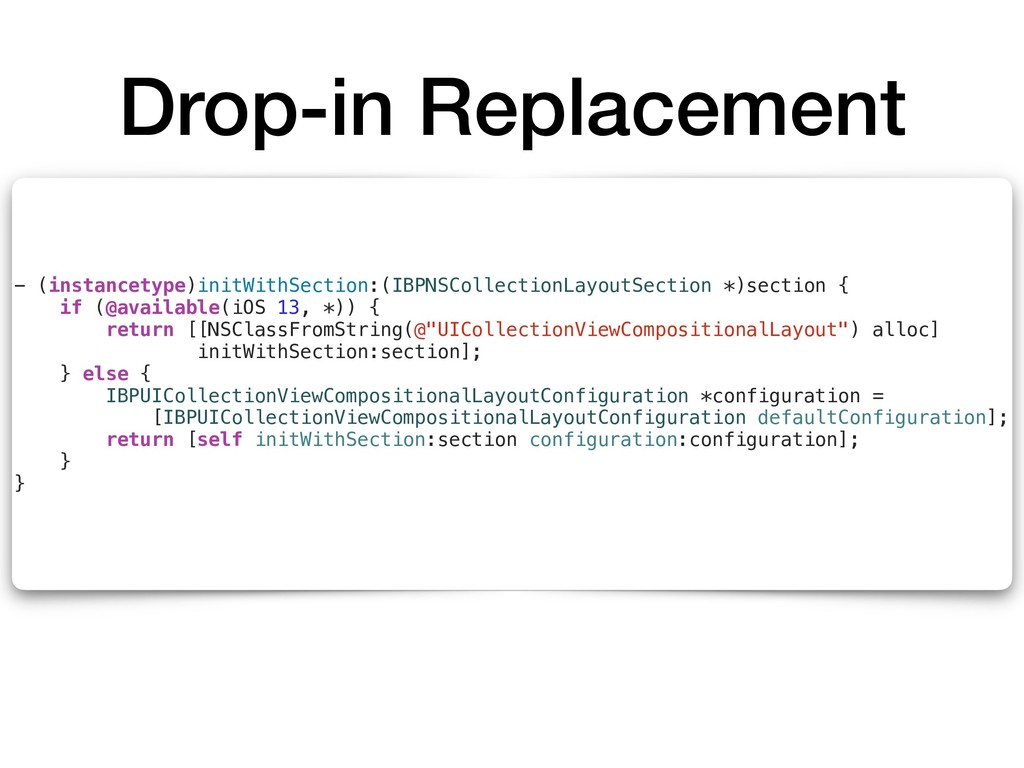 Drop-in Replacement - (instancetype)initWithSec...