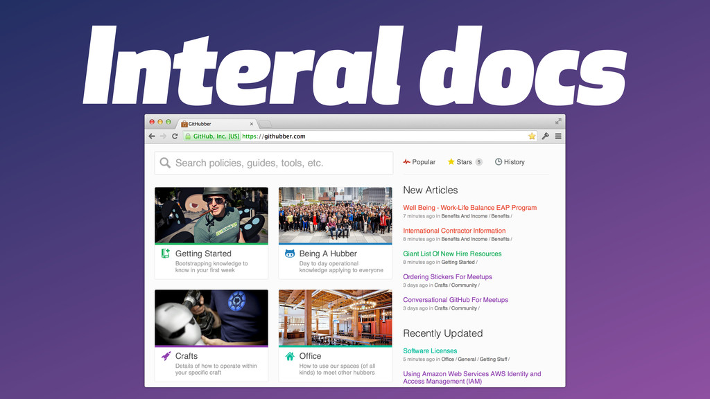 Interal docs