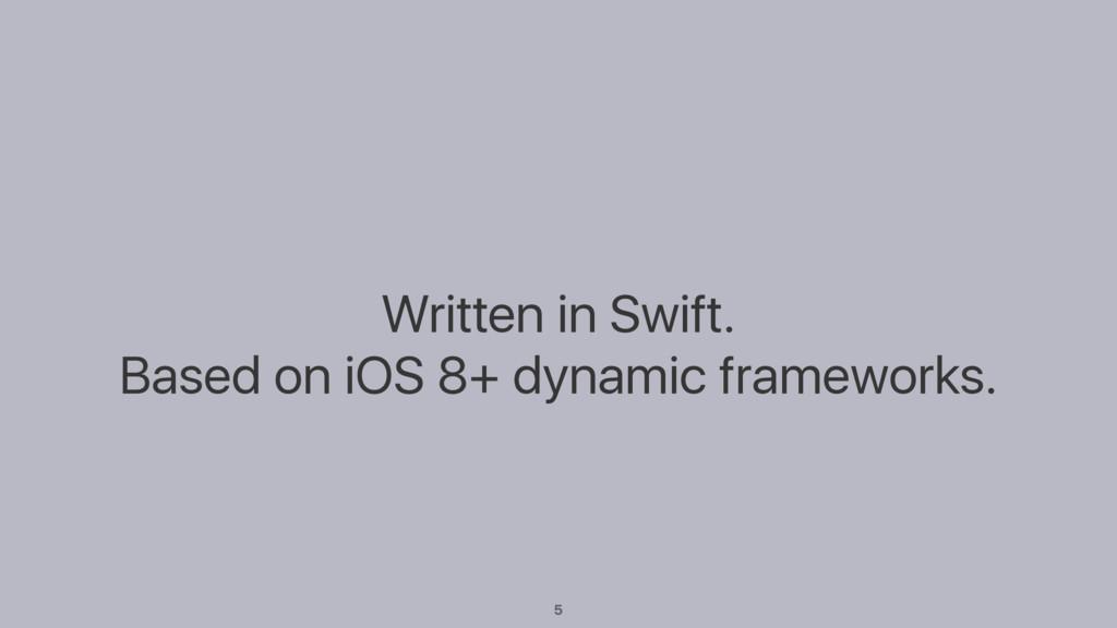 Written in Swift. Based on iOS 8+ dynamic frame...