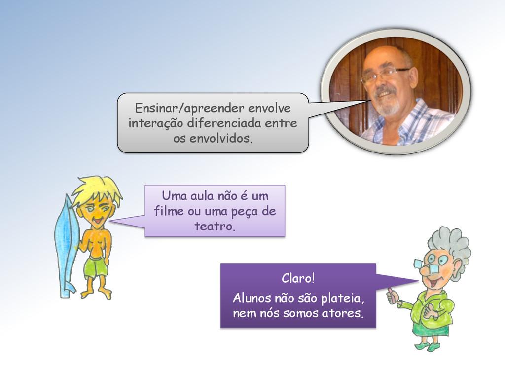Ensinar/apreender envolve interação diferenciad...