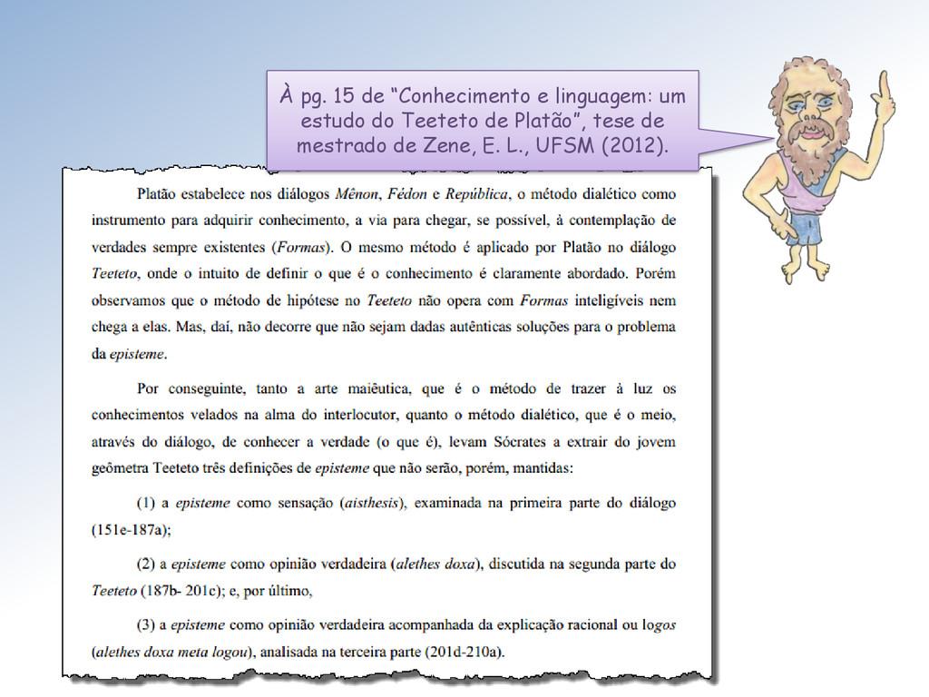 """À pg. 15 de """"Conhecimento e linguagem: um estud..."""