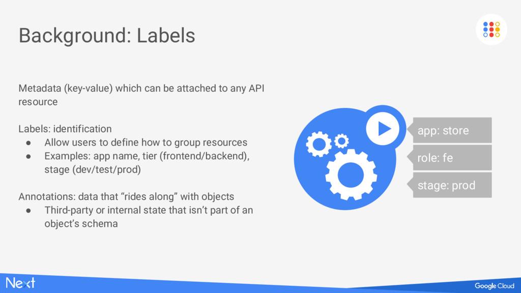 Background: Labels Metadata (key-value) which c...