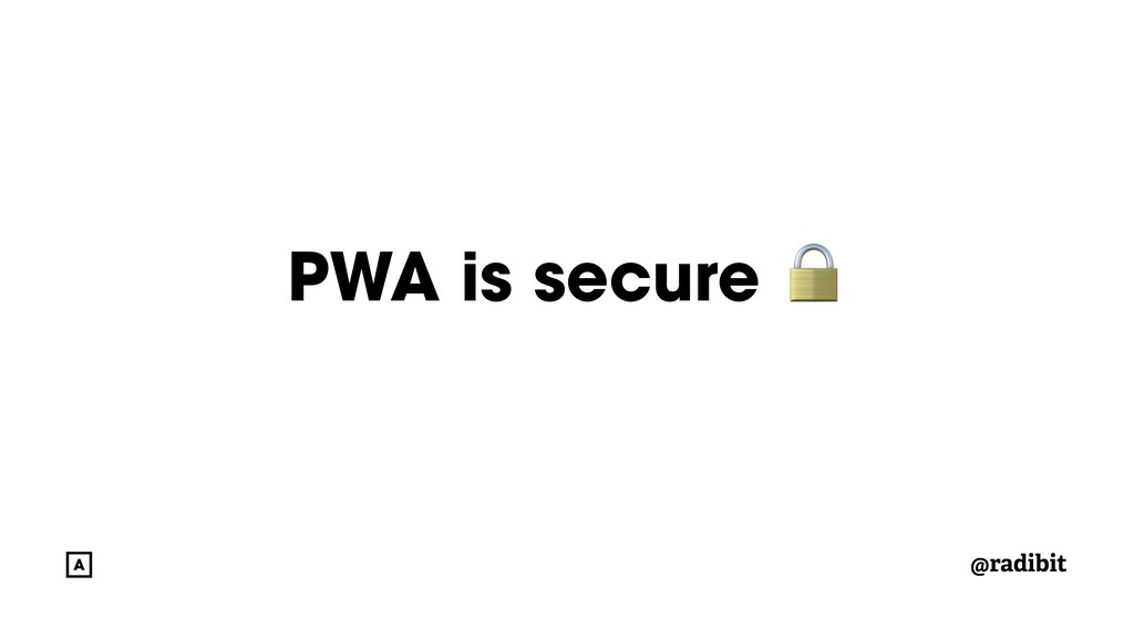 @radibit PWA is secure