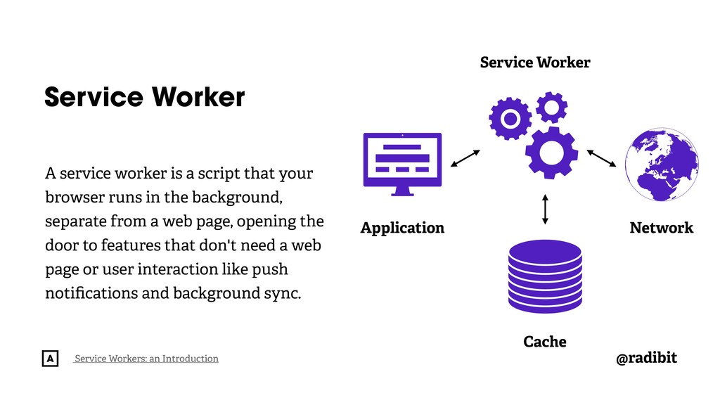 @radibit Service Worker A service worker is a s...