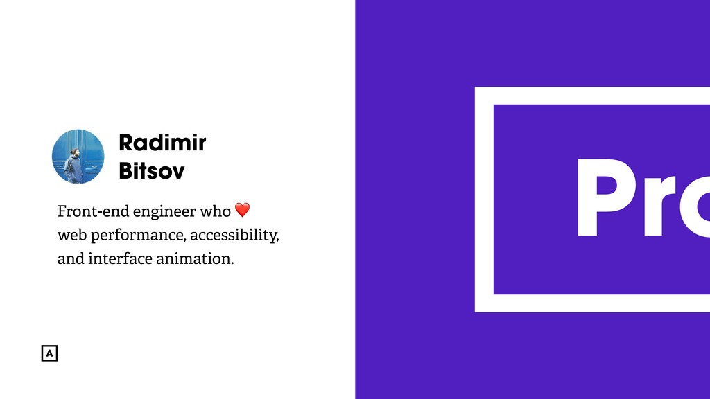 @radibit Radimir Bitsov Front-end engineer who ...