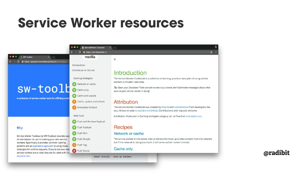 @radibit Service Worker resources