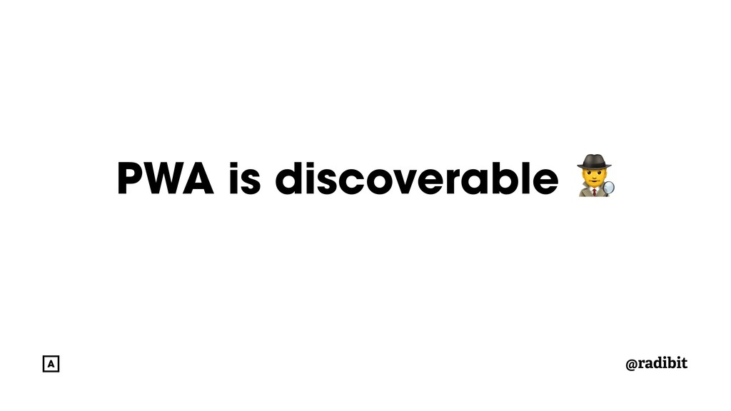 @radibit PWA is discoverable