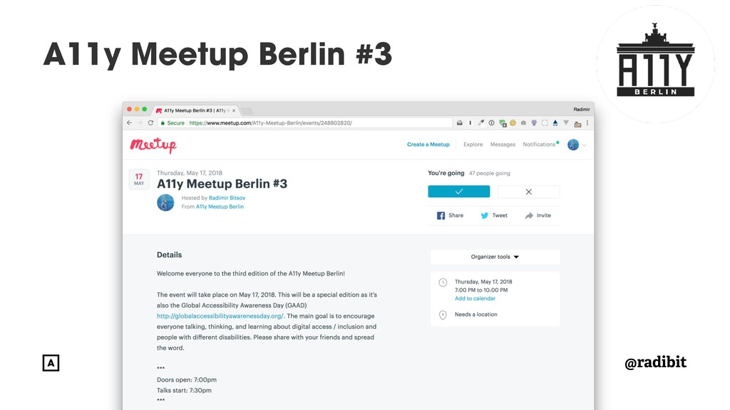 @radibit A11y Meetup Berlin #3