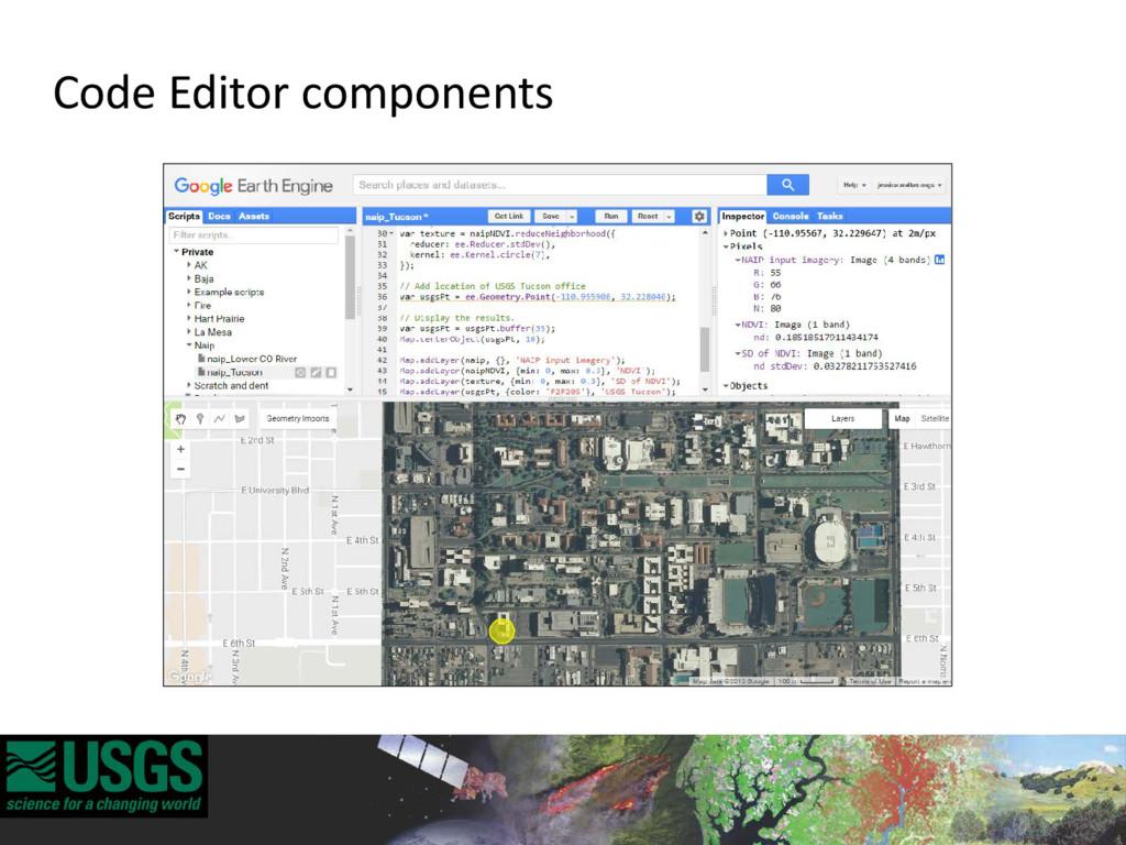 Code Editor components