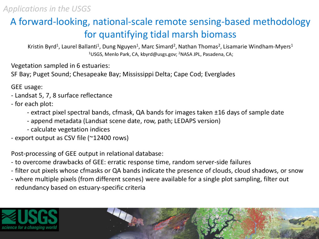 A forward-looking, national-scale remote sensin...