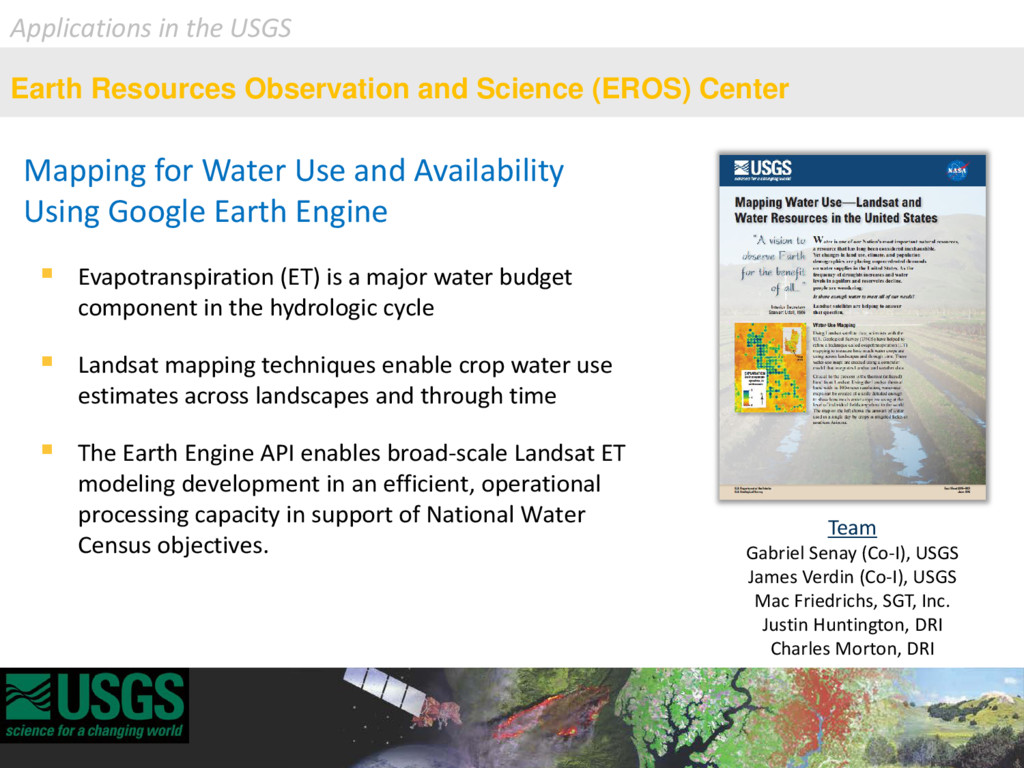 Mapping for Water Use and Availability Using Go...