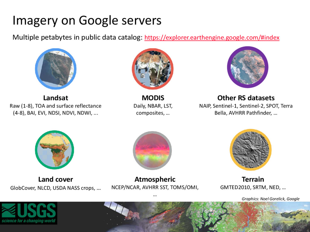 Imagery on Google servers Multiple petabytes in...