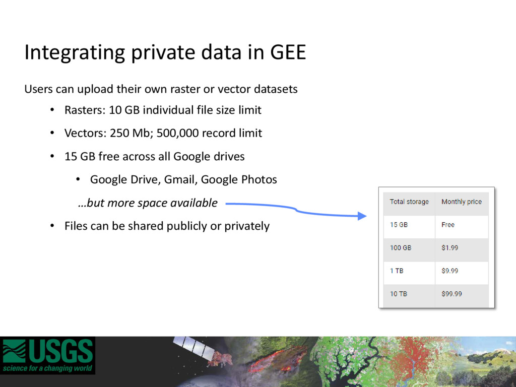Integrating private data in GEE Users can uploa...