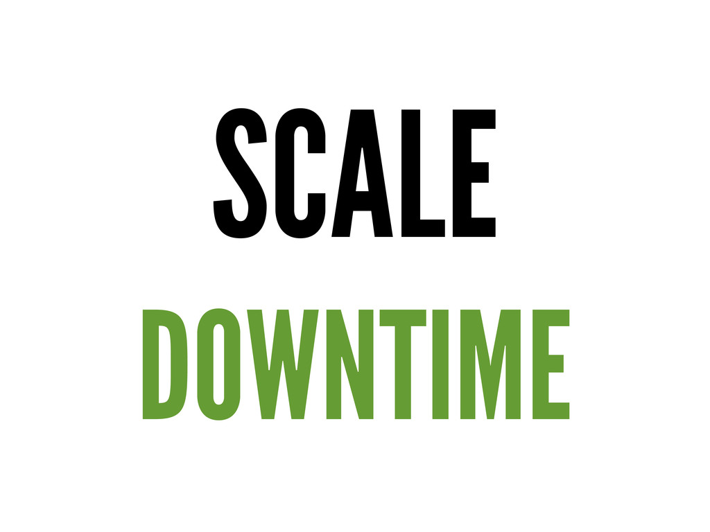 SCALE DOWNTIME