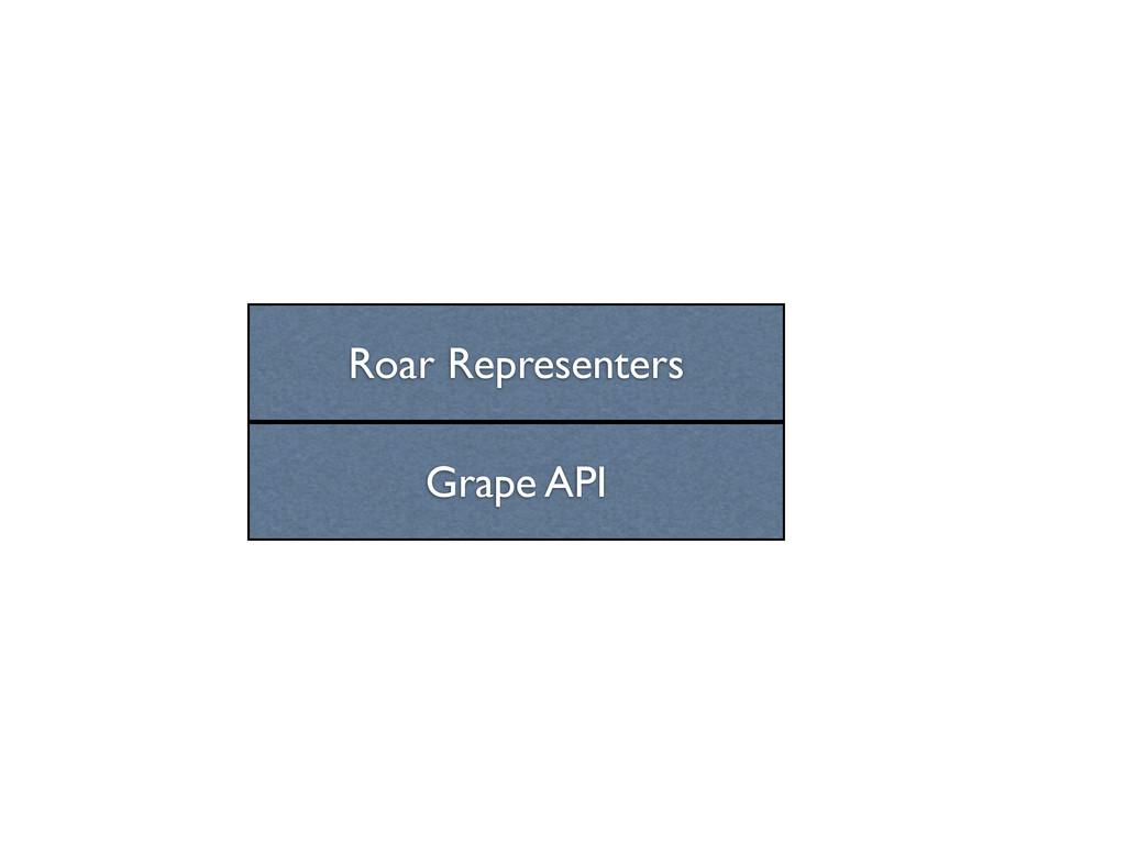 Grape API Roar Representers