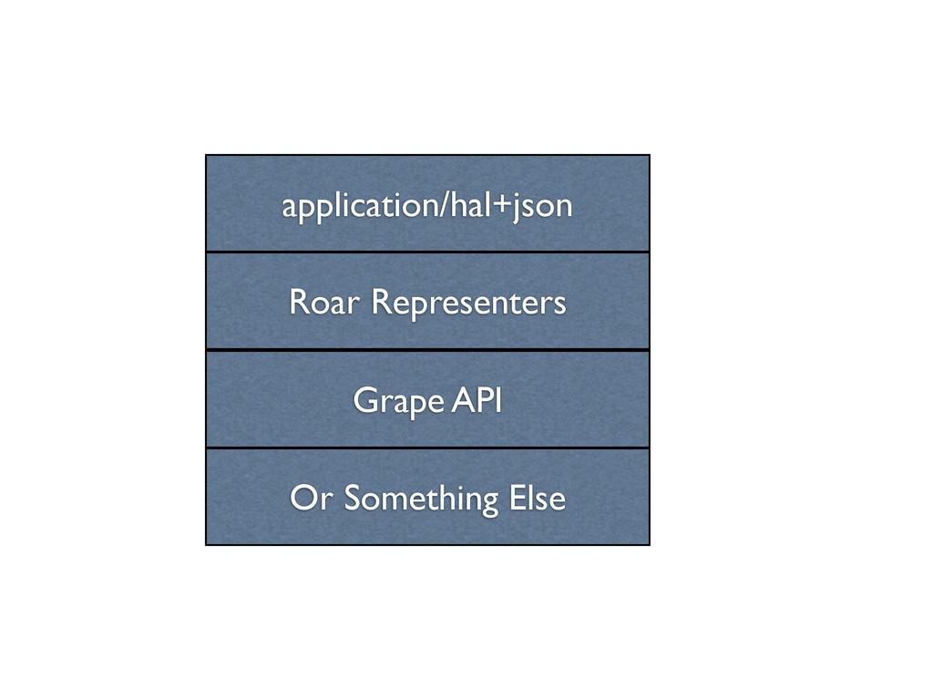 Grape API Roar Representers application/hal+jso...