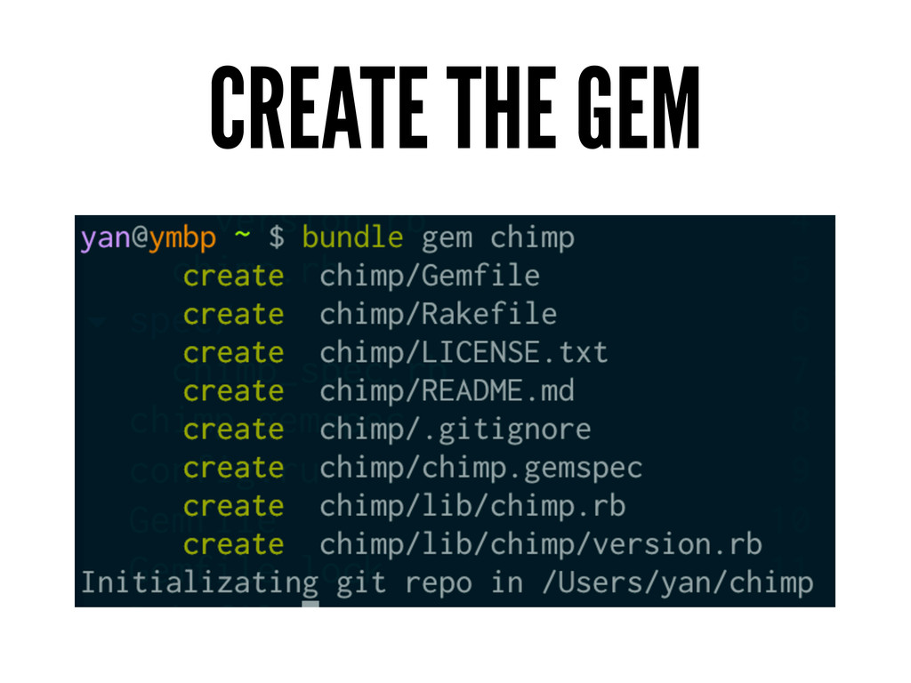 CREATE THE GEM