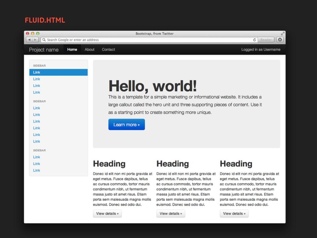FLUID.HTML