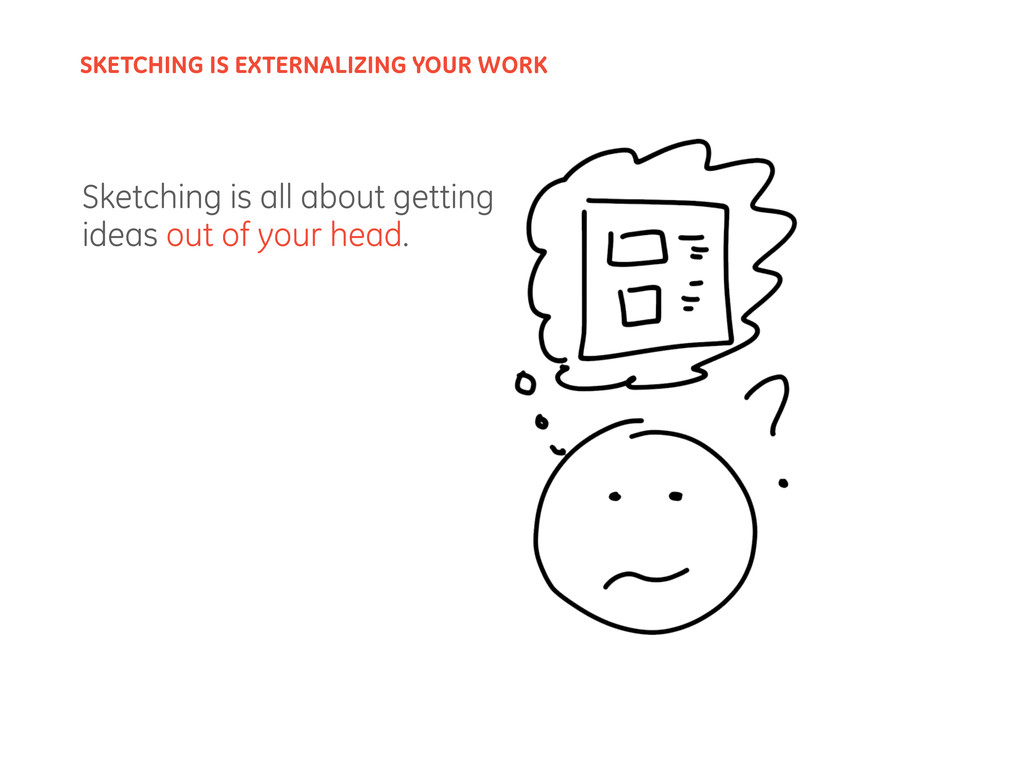Sketching is all about getting ideas out of you...