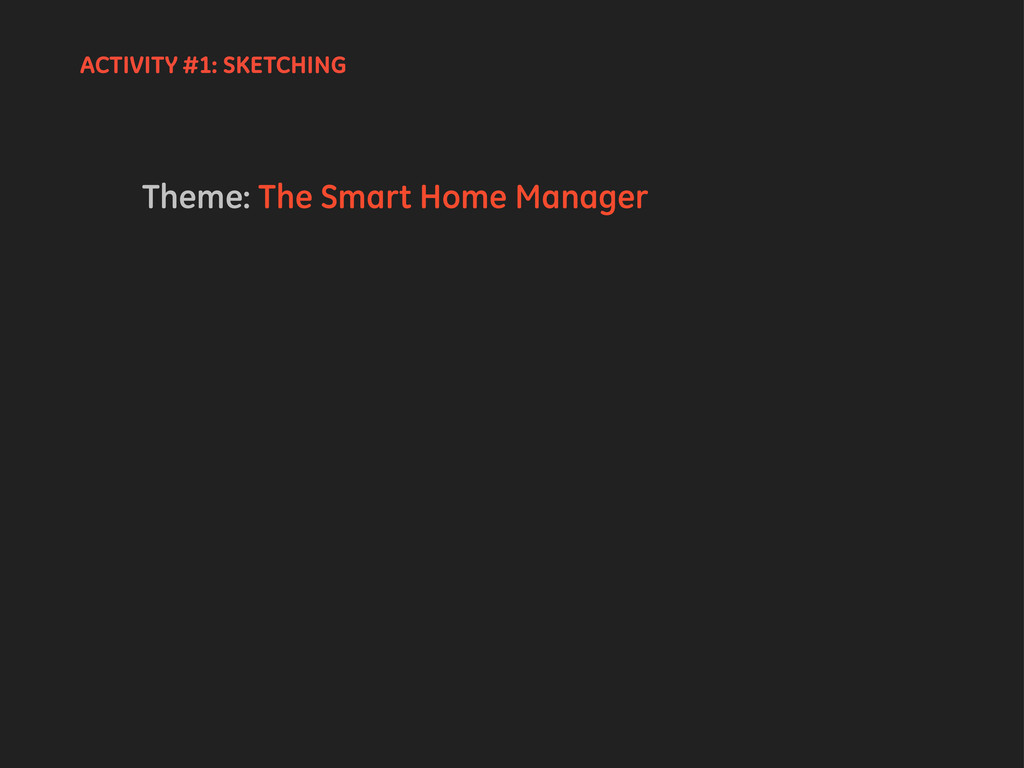Theme: The Smart Home Manager ACTIVITY #1: SKET...
