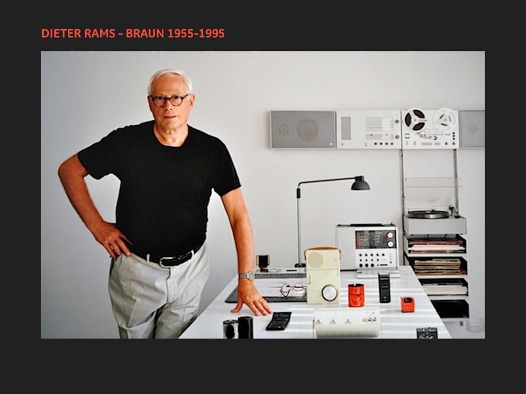 DIETER RAMS - BRAUN 1955-1995
